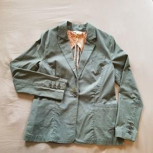 CAbi Style #207 Moss Green Cotton Blazer